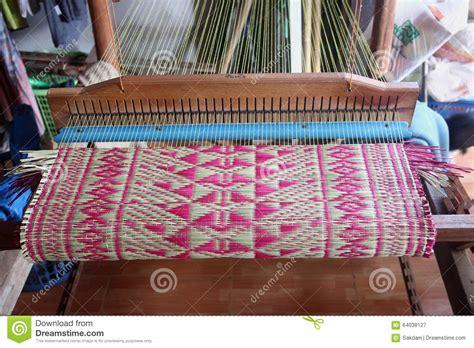 mat weaving machine stock image image  lace wood