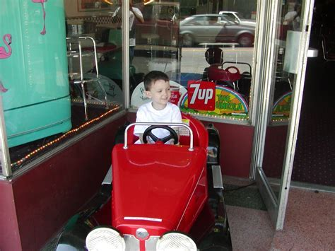 Red Car Kiddie Ride: Coin Operated, Kid Ride On, Old Time Car
