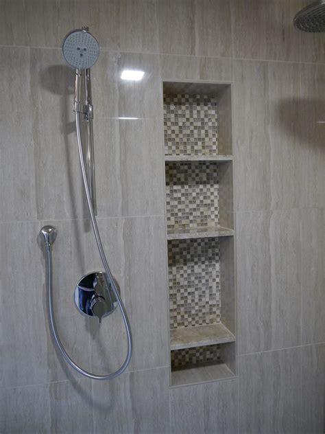 corner drawer cabinet shower tub niches
