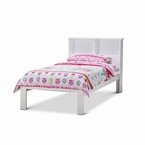 Herry Single Bed Frame w/ Storage Headboard White | Buy ...