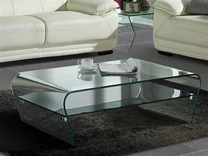 Table Basse Vente Unique : table basse kelly verre tremp tablette noire laqu e ~ Nature-et-papiers.com Idées de Décoration
