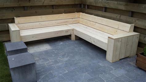 hoekbank steigerhout zelf maken tekening zelf een loungebank maken het zelf maken