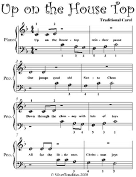 house top beginner piano sheet