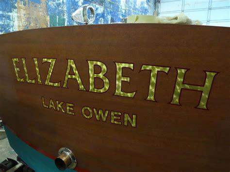 gold leaf lettering boat lettering sign lettering