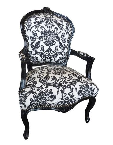 black and white damask chair nettie s stuff