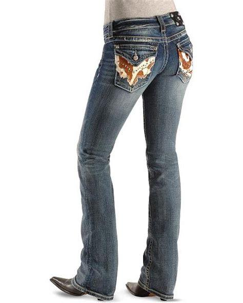 Miss Me Cowhide - miss me embellished cowhide pocket boot cut 33 1