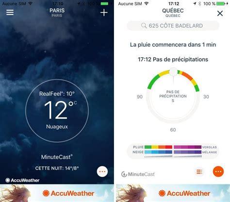 le mo weather radar le top applications m 233 t 233 o sur iphone et apple en 2015