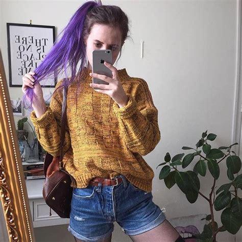 sweater yellow vintage grunge tumblr aesthetic