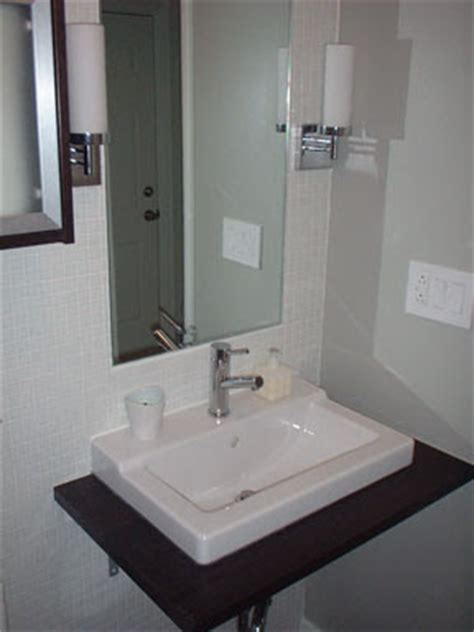 floats then sinks from drab to fab bathroom remodel