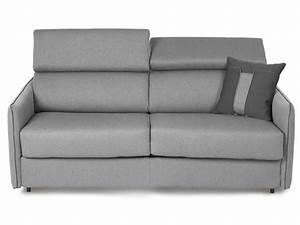 Canape convertible 3 places enza coloris gris comfort for Tapis de souris personnalisé avec bultex canapé convertible
