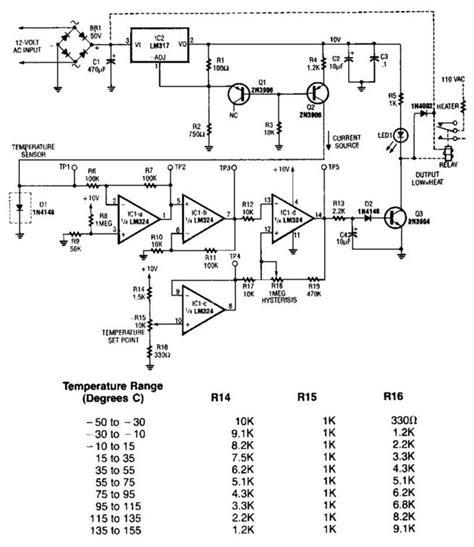 Simple Temperature Sensor Circuit Diagram Electronic