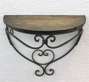 Wandregal Aus Metall : wandregal 2er set 12095 wandkonsole malega aus metall mit holzablage badregal ebay ~ Markanthonyermac.com Haus und Dekorationen
