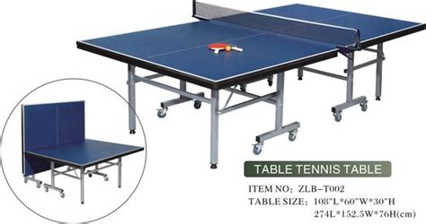 standard size table tennis tableid product