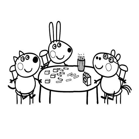 Kleurplaat Peppa Pig Verjaardag by Leuk Voor Peppa S Vriendjes