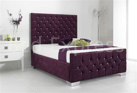 Fabric King Bed Frame by Details About Stylish Fabric Upholstered Bed Frame
