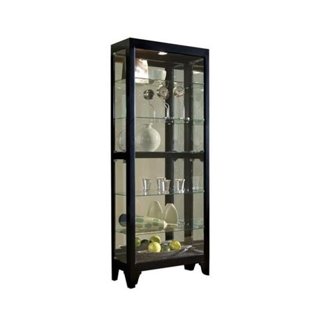 Pulaski Curio Display Cabinet In Black Granite by Pulaski Onyx Curio Cabinet 21218