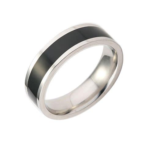 black comfort fit tungsten enamel s ring flat