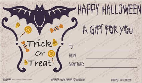 halloween gift gift template  create halloween certificates
