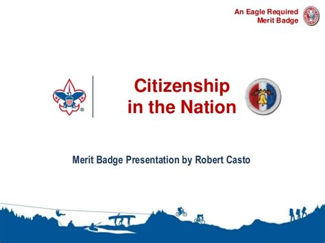 citizenship in the nation merit badge presentation