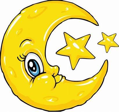 Moon Stars Clipart Crescent Cliparts Yellow Sun