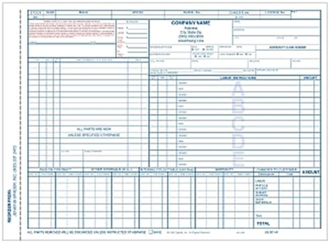 recreational vehicle repair order