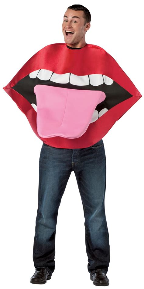 adult lips tongue costume  fancy dress ball