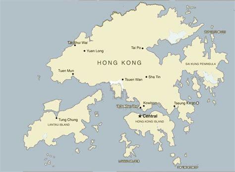 china map hong kong