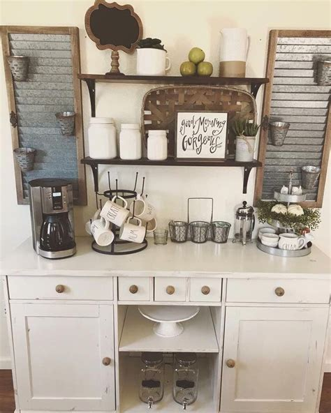 It's my favorite diy budget friendly makeover project so far. 13+ Adorable DIY Coffee Bar Ideas For Your Cozy Home | Coffee bar home, Coffee bars in kitchen ...