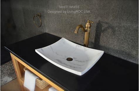 18 quot white marble vessel sink tahiti white