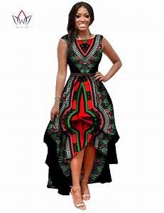 African Dashiki Ankara Dresses with Cascading Ruffle ...