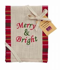 Merry & Bright Dancer Tree Christmas Kitchen Dishtowel