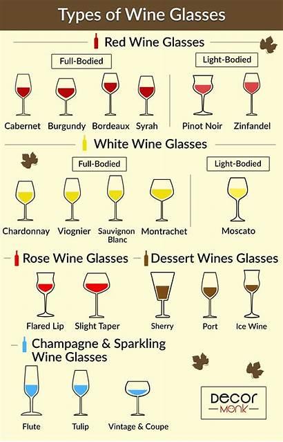 Types Wine Glasses Different