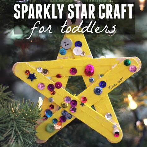 toddler approved sparkly craft for toddlers 810 | sparkly%2Bstar%2Bcraft%2Bfor%2Btoddlers%2Bsquare
