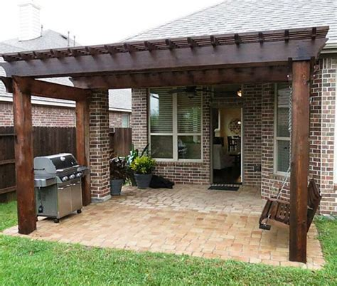patio cover pergola patio cover company arbors pergolas a better fence company aubrey