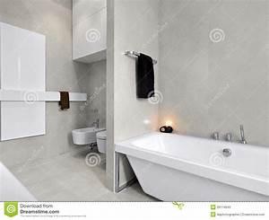 Baignoire Blanche Moderne Pour La Salle De Bains Image