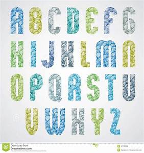 Große Deko Buchstaben : kopieren sie bezaubernden bunten modernen guss gro e buchstaben vektor abbildung bild 47135359 ~ Markanthonyermac.com Haus und Dekorationen