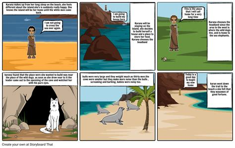 Island Of The Blue Dolphins Comic Chapter 11 Storyboard