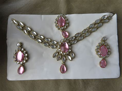 Light Pink White Indian Kundan Necklace/earrings/tikka Jewelry Set Harris Jewelry Lifetime Warranty Job Reviews Ohio Princess P Earrings Sell Winston Salem Nc No Startup Fee Net Worth Savannah
