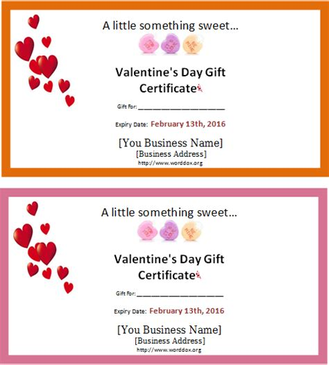 Lentine  Ee  Gift Ee   Certificate Template Free  Ee  Gift Ee   Ftempo