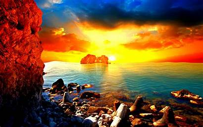 Sunset Beach Crazy Wallpapers Jamaica Colorful Sunsets
