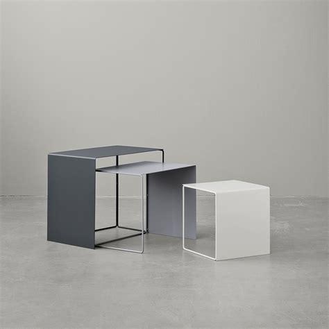 minimalist furniture design buy ferm living nesting cluster tables set of 3 grey amara