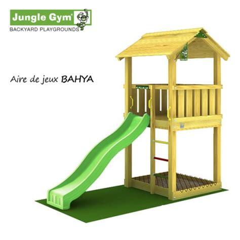 aire de jeux jungle bahya toboggan 5 enfants trigano store