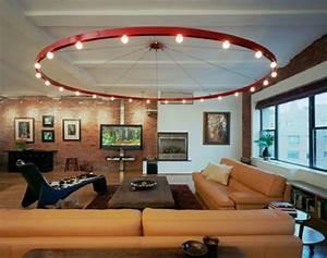 Deckenleuchten Für Wohnzimmer : 61 coole beleuchtungsideen f r wohnzimmer ~ Michelbontemps.com Haus und Dekorationen