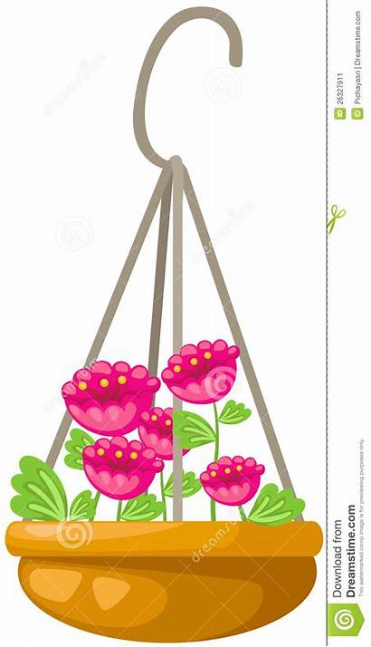 Hanging Flower Pot Clipart Illustration Clipground Background