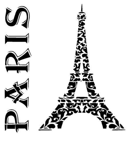 paris eiffel tower stencil stencils eiffel tower