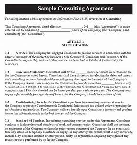 sample consulting agreement 9 documents in pdf word With consultancy contract template