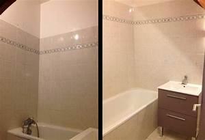 Carrelage Avant Ou Apres Receveur : r novation salle de bains repeindre le carrelage plut t que de le casser ~ Nature-et-papiers.com Idées de Décoration