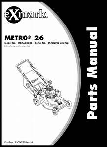 Exmark Mfg Co Inc Lawn Mower Mskabbc26 Users Manual