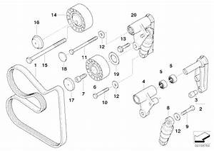 Meyle Aux Belt Tensioner Pulley  Bmw 24v Engines And V10