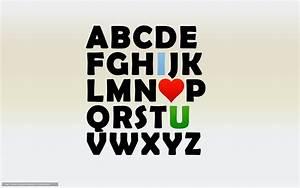 Download wallpaper Alphabet, letters, heart, love free ...